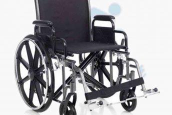 Alquiler de silla de ruedas sin frenos en manillas para anciano o movilidad reducida o minusválido en Las Palmas de Gran Canaria con posibilidad de opción a compra con MibienStar