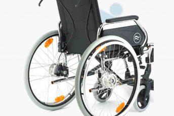 Alquiler de silla de ruedas con frenos en manillas para anciano o movilidad reducida o minusválido en Las Palmas de Gran Canaria con posibilidad de opción a compra con MibienStar