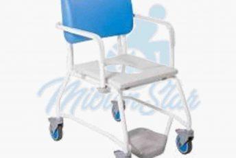 Alquiler de silla con ruedas pequeñas para ducha e inodoro o baño o aseo para anciano con movilidad reducida o minusválido en Las Palmas Gran Canaria