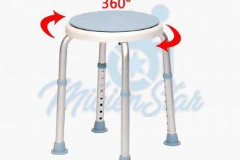 Alquiler de silla asiento butaca giratorio sin ruedas para ducha o baño o aseo para anciano con movilidad reducida o minusválido en Las Palmas Gran Canaria