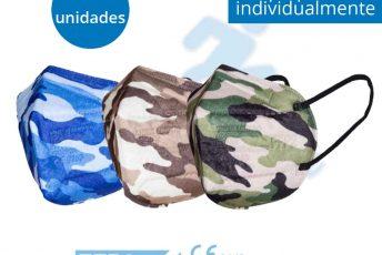 Oferta de mascarillas ffp2 homologadas de estampado de camuflaje en caja de 10 unidades en Gran Canaria