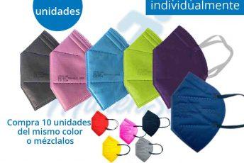 mascarillas ffp2 homologadas de colores en venta a precios con descuento en Gran Canaria